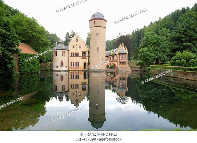 Mespelbrunn castle, Mespelbrunn, Lower Franconia, Bavaria, Germany