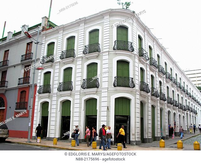 Traditional Architecture, Historic Monastery Building of the Leon de Oro Hotel, Downtown Caracas, Historic Centre, Venezuela