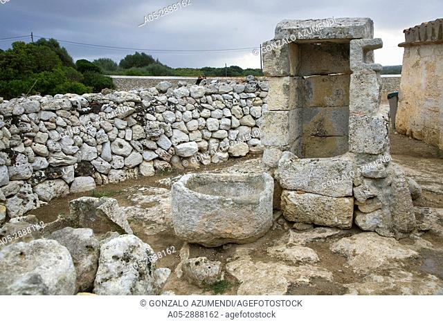 Taula de Torralba. Prehistoric Village of Torralba d'en Salord. Minorca. Balearic Islands. Spain