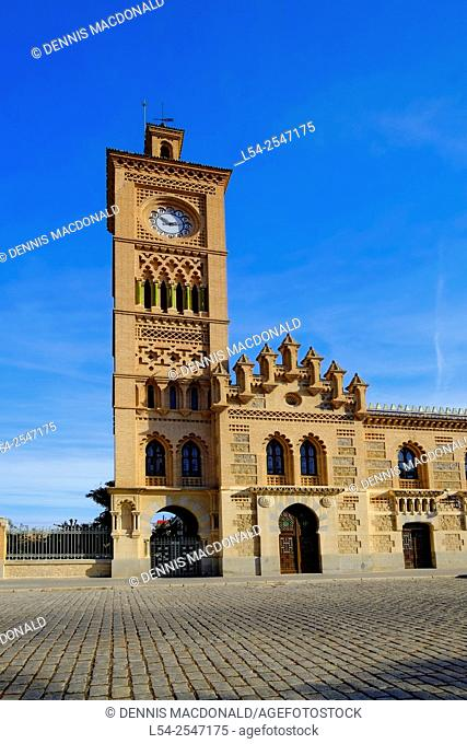 Train Station Clock Tower Toledo Spain ES