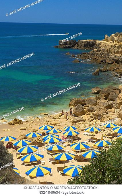 Do Castelo Beach, Albufeira, Praia Do Castelo, Algarve, Portugal, Europe