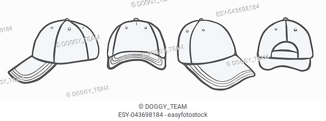 24b392ab868 Blank Cap (different points of view) With Space For Your Design