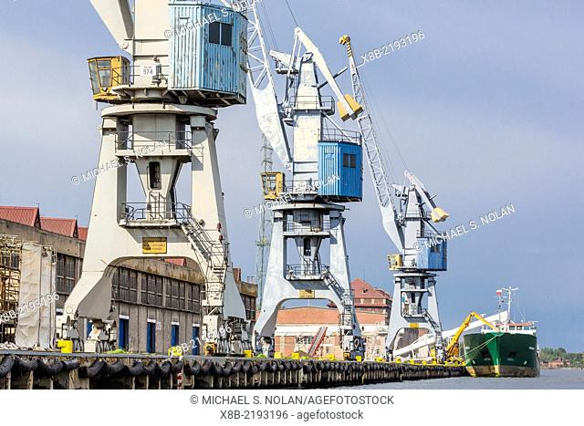 The once communist controlled Gdansk shipyards, home to the Solidarity movement, Gdansk, Poland