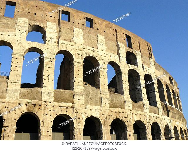 Rome (Italy). Outside the Colosseum in Rome