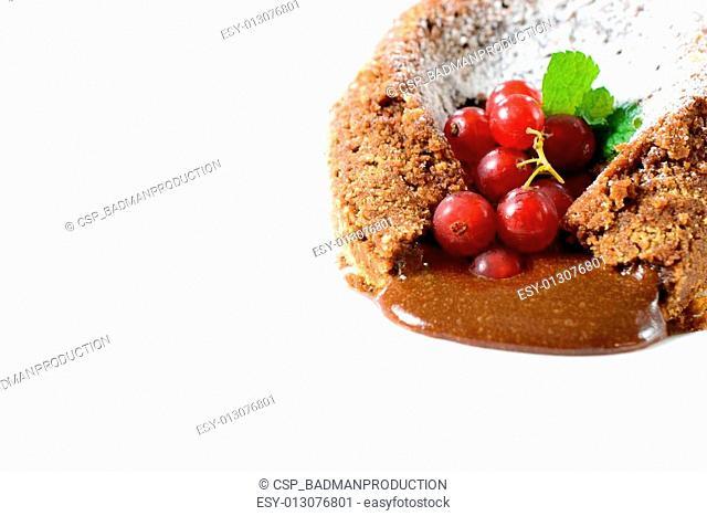 Lava cake isolated