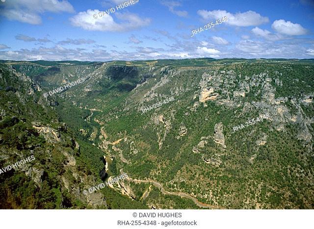 Gorges du Tarn from Roc des Hourtous, Lozere, Languedoc-Roussillon, France, Europe