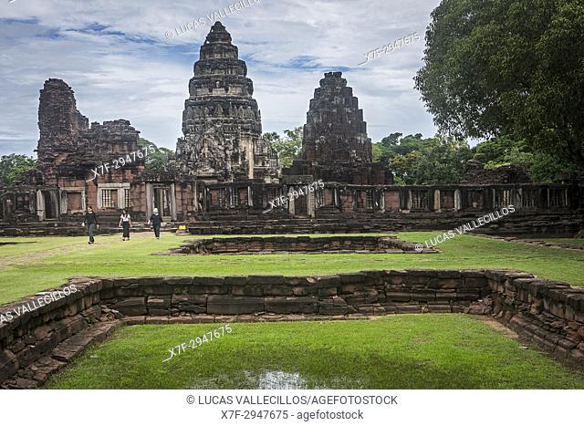 Passage way and central sanctuary, in Prasat Hin Phimai (Phimai Historical Park), Phimai, Nakhon Ratchasima province, Thailand