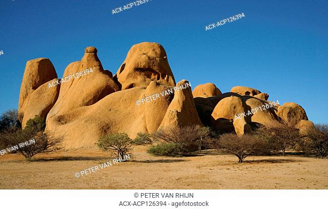 A relatively small but beautiful formation of remnant volcanic rock near Spitzkoppe,central Namibia,Africa
