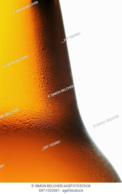 Beer Bottle Close Up Cold Alcoholic Drink