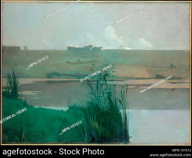 Arques-la-Bataille. Artist: John Henry Twachtman (American, Cincinnati, Ohio 1853-1902 Gloucester, Massachusetts); Date: 1885; Medium: Oil on canvas;...
