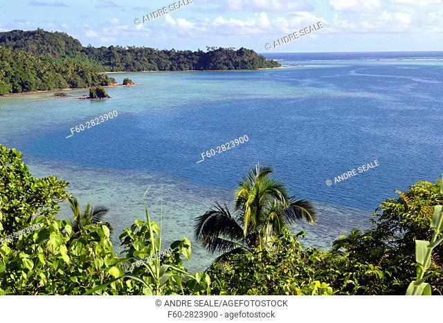 View of Nukuatea Islet, Wallis Island, Wallis and Futuna, Melanesia, South Pacific