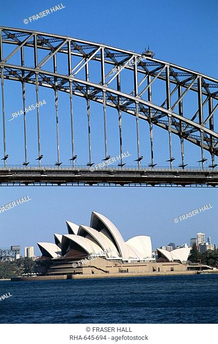 Sydney Opera House and Harbour Bridge, Sydney, New South Wales N.S.W., Australia, Pacific