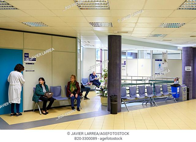 Waiting room, Antiguo Health Center building, Donostia, San Sebastian, Gipuzkoa, Basque Country, Spain