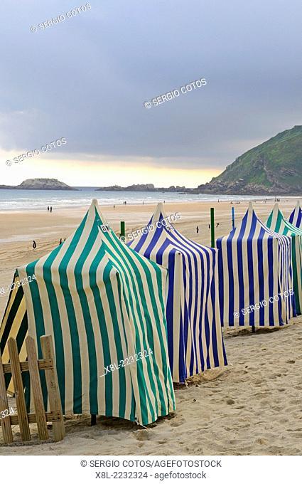 Cabins on the beach in Zarautz