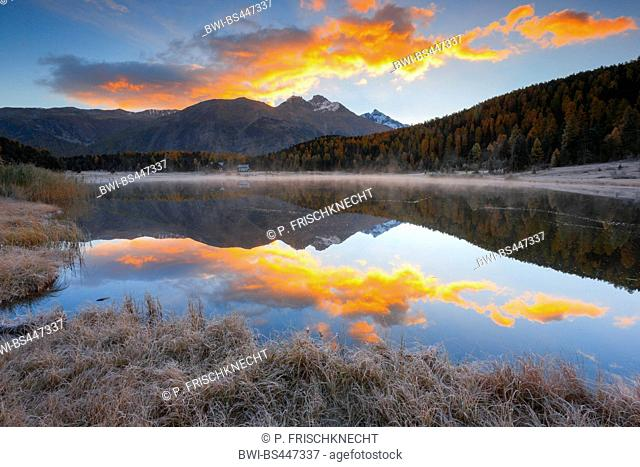 Lej da Staz in the morning, Switzerland, Grisons, Oberengadin