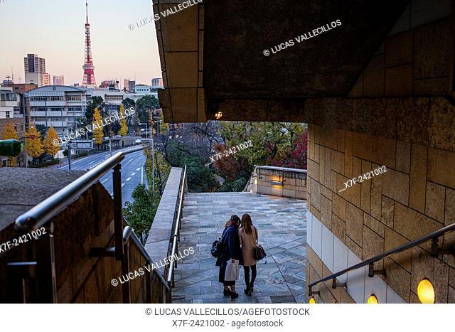 Tokyo tower, from Roppongi Hills, Tokyo, Japan