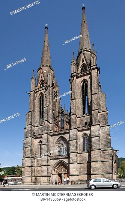 Elisabethkirche church, Marburg, Hessen, Germany, Europe
