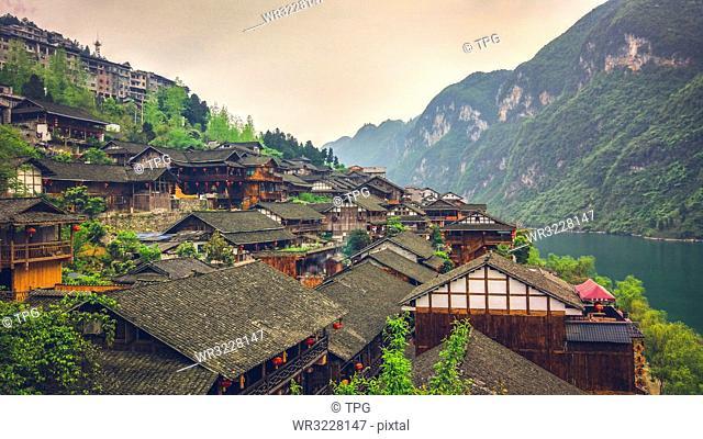 Gong Tan ancient town;China