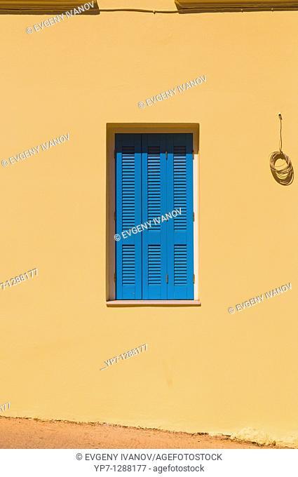 Window shutters in Crete Greece