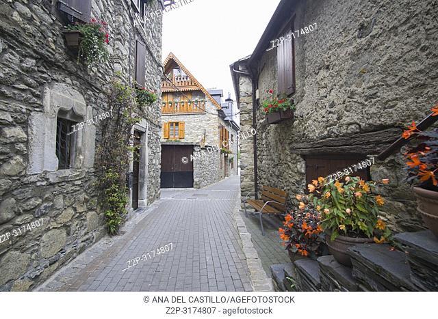 Garos village in Aran valley Lleida Catalonia Spain
