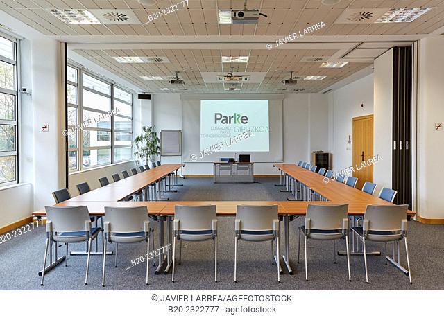 Empty meeting room. Technology Park. Euskadiko Parke Teknologikoak. Miramon. Donostia. San Sebastian. Gipuzkoa. Basque Country. Spain