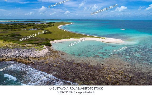 Aerial View, sarky Archipelago Caribbean Los Roques,