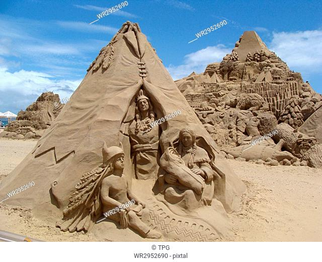 Fulong international sand sculpture
