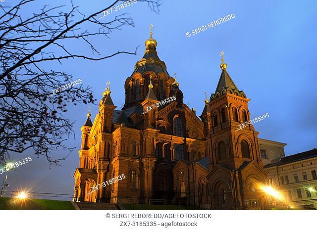 Uspenski Cathedral (1868), Eastern Orthodox Church, Katajanokka, Helsinki, Finland, Europe