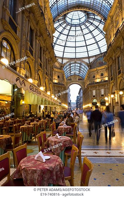 Restaurant and shops , Italy