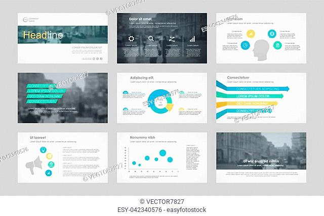 Set of color infographic elements for presentation templates. Leaflet, Annual report, book cover design. Brochure, layout, Flyer layout template design