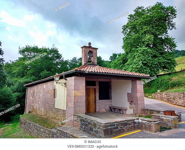 Nuestra Señora del Pilar chapel, Amaiur, Baztán valley. Navarre. Spain