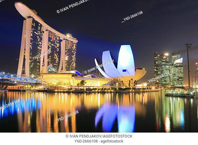 Marina Bay Sands and Art Science Museum at Night, Singapore