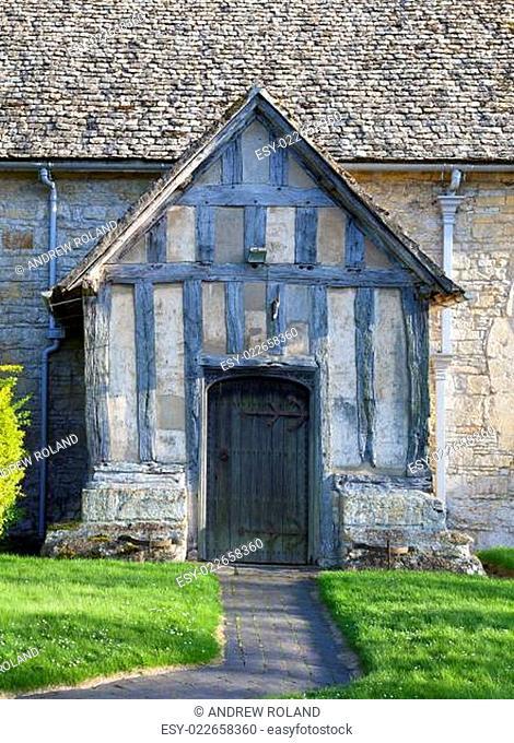 Warwickshire church porch