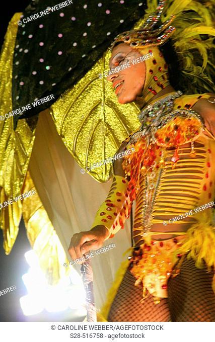Drag queen at Carnival, Rio de Janeiro