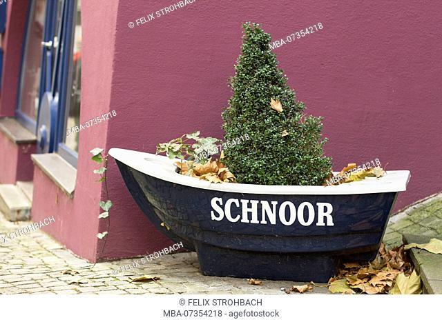 A planted boat in the Schnoor district