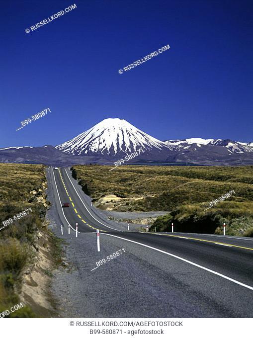 Scenic Mount Ngauruhoe, Tongariro National Park, New Zealand (January, 1995)
