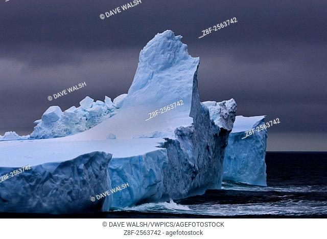 Pointed iceberg, Southern Ocean February 7th 2007