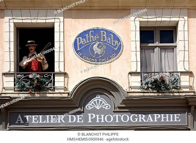 France, Vendee, Les Epesses, Le Puy du Fou amusement park, Les Automates Musiciens du Bourg 1900, musical show with automaton musicians in a recreated village...