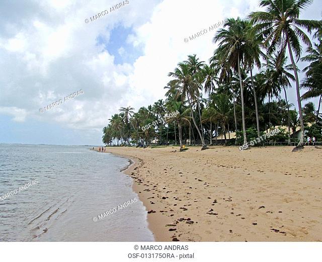 empty seashore beach in bahia