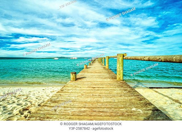 Wooden Jetty at Church Haven. Western Cape Province, South Africa