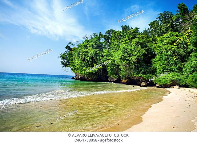 Frenchman's Cove Beach, Port Antonio, Jamaica, West Indies, Caribbean, Central America