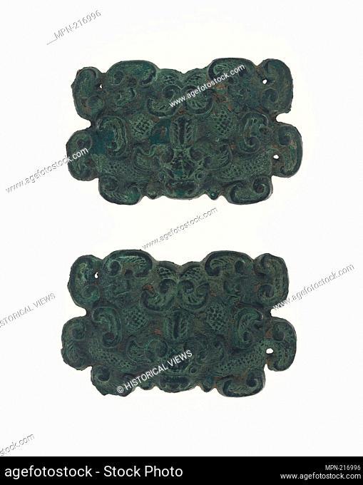 Pair of Ornaments - Eastern Zhou dynasty, Warring States period (480-221 B.C.), c. 4th/3rd century B.C. - China - Origin: China, Date: 399 BC-200 BC