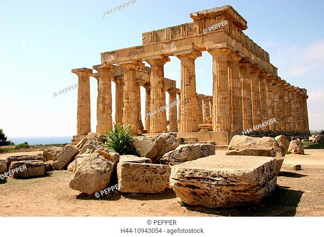Italy, Europe, Sicily, Selinunte, temple, Hera, Hera temple, Greek, columns