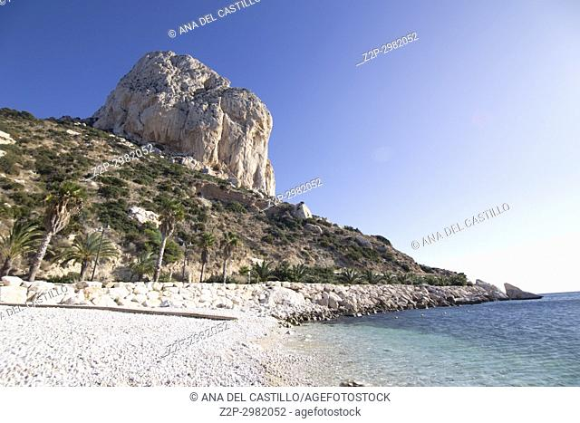 View from the Ifach penyon rock in Calpe coast Alicante, Valencian Community, Spain