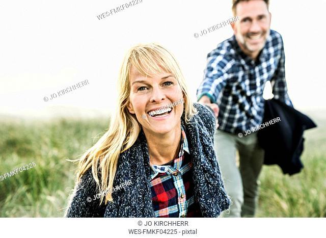 Happy couple in dunes