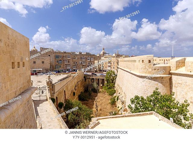 Streets of Valletta, Malta seen from Fort St. Elmo