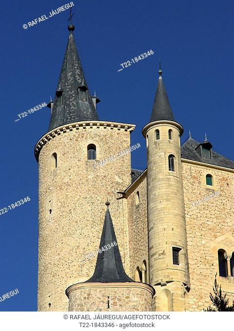 Segovia Spain  Towers of the Alcazar de Segovia