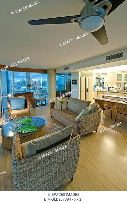 Upscale Living Room in High Rise Condo