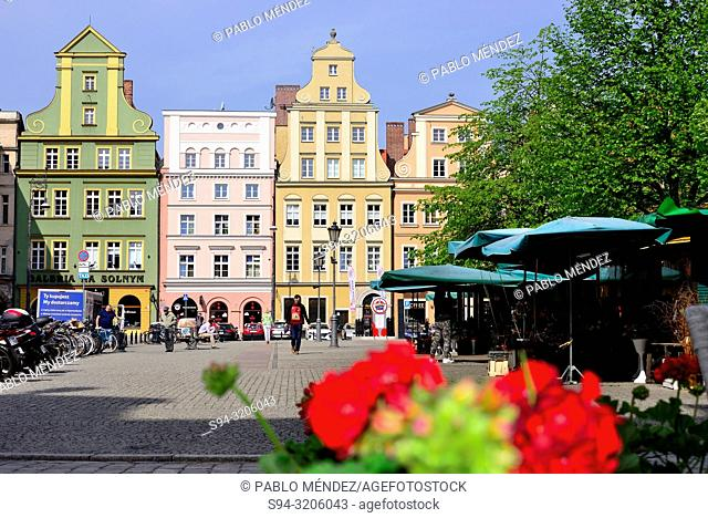 Salt square of Wroclaw, Silesia, Poland