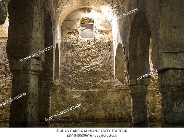 Arab cistern or Aljibe, former mosque during the Medieval Muslims Rule in Spain, Caceres